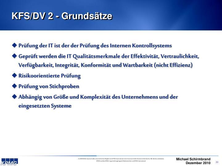 KFS/DV 2 - Grundsätze