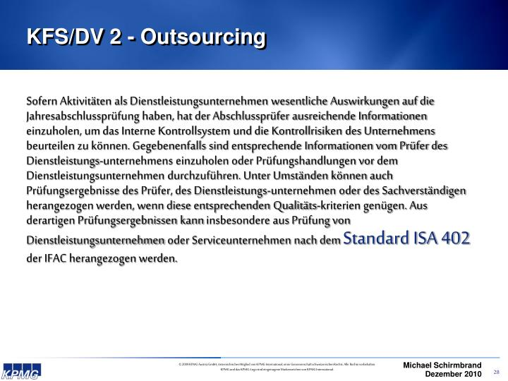 KFS/DV 2 - Outsourcing