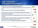 valit principles cio questionnaire results