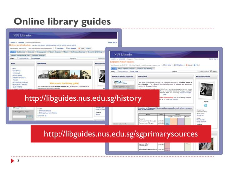 Online library guides