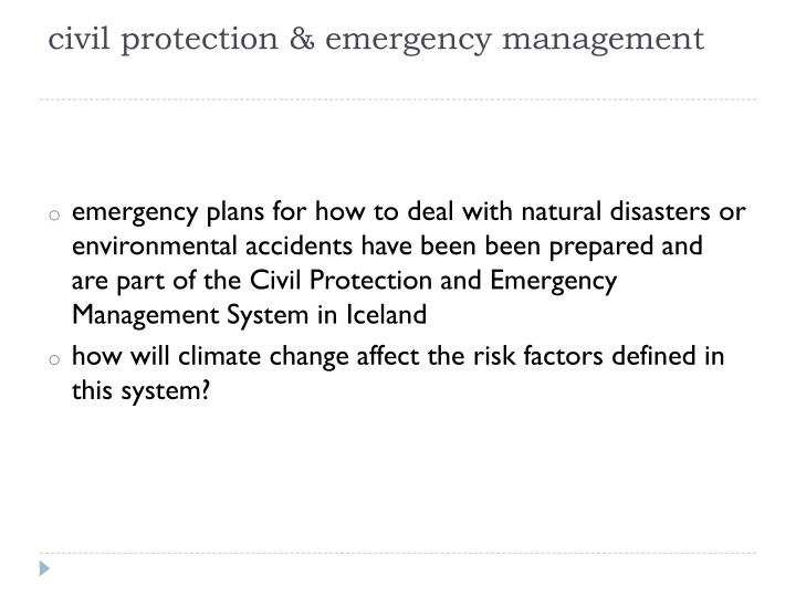 civil protection & emergency management