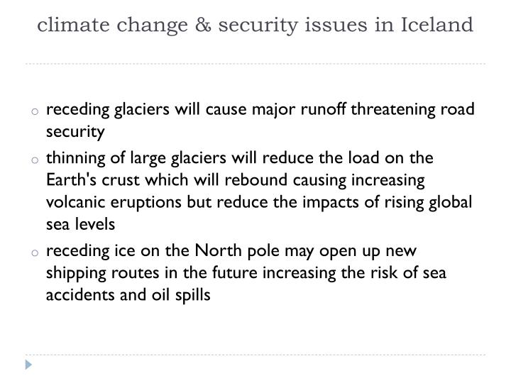 climate change & security issues in Iceland