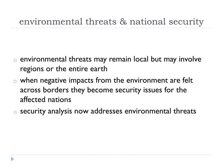 environmental threats & national security
