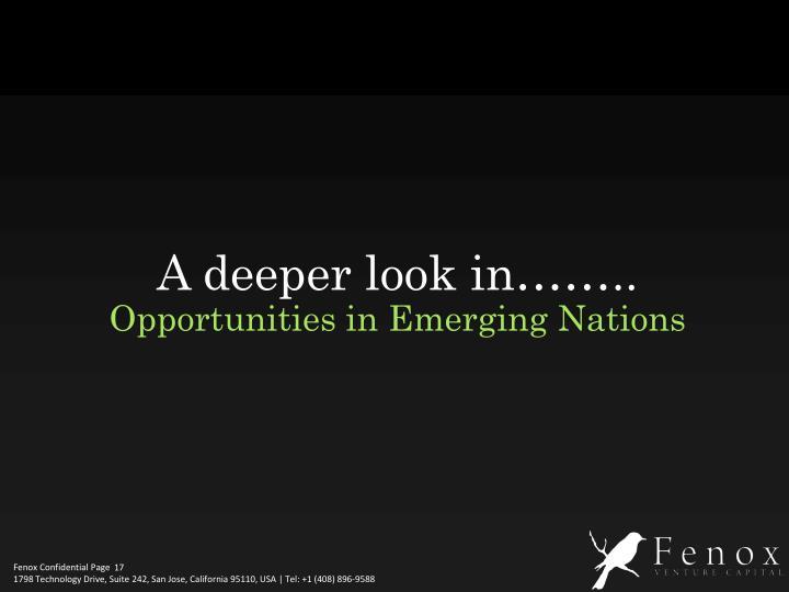 A deeper look in……..