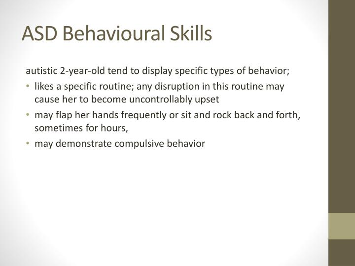 ASD Behavioural Skills
