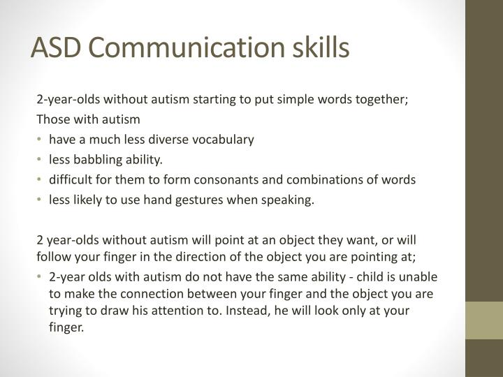 ASD Communication skills