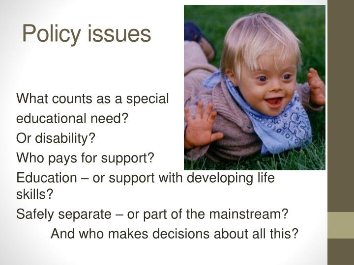 Policy issues