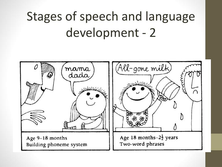 Stages of speech and language development - 2