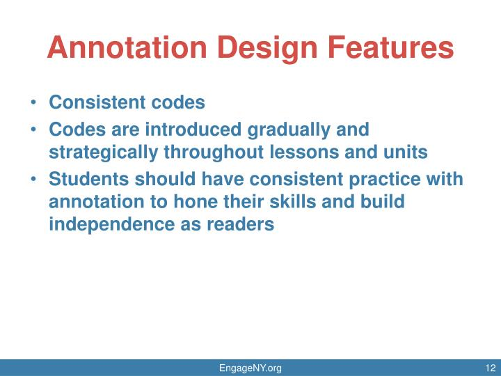 Annotation Design Features