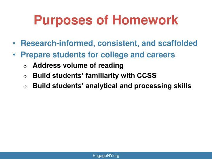 Purposes of Homework