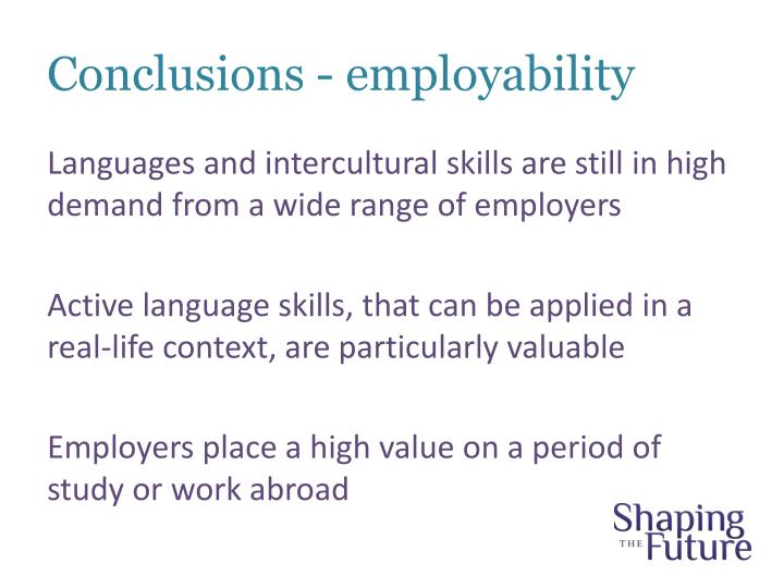 Conclusions - employability