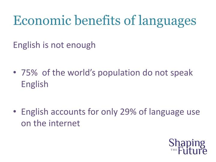 Economic benefits of languages