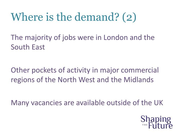 Where is the demand? (2)