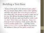 building a text base