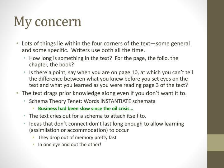 My concern