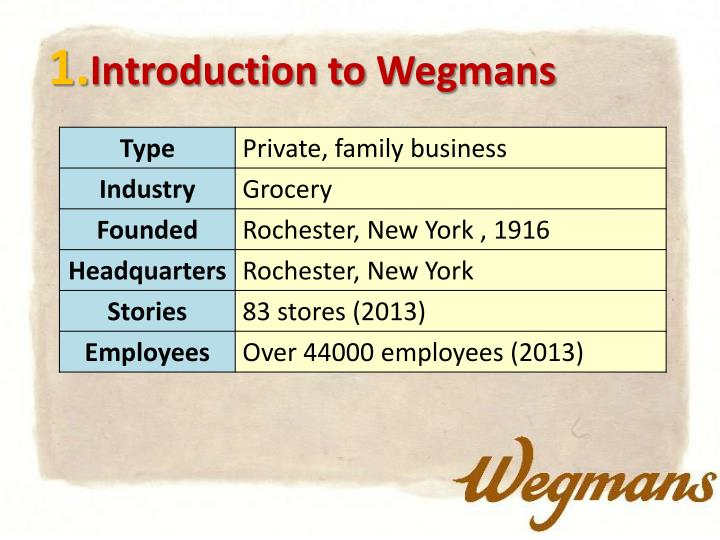 1 introduction to wegmans