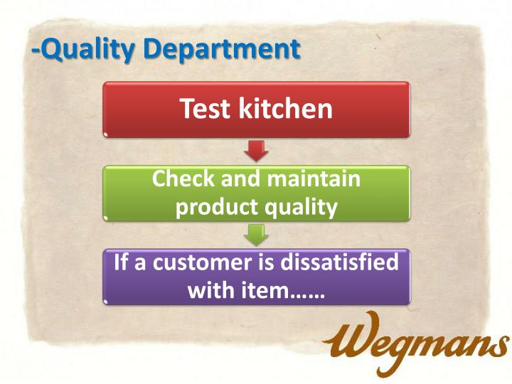 -Quality Department