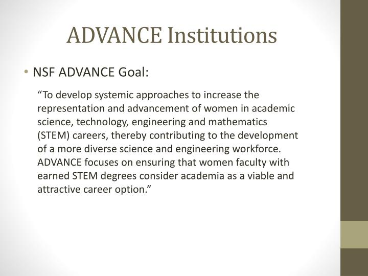 ADVANCE Institutions