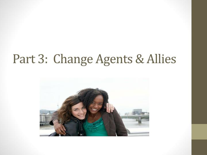 Part 3:  Change Agents & Allies