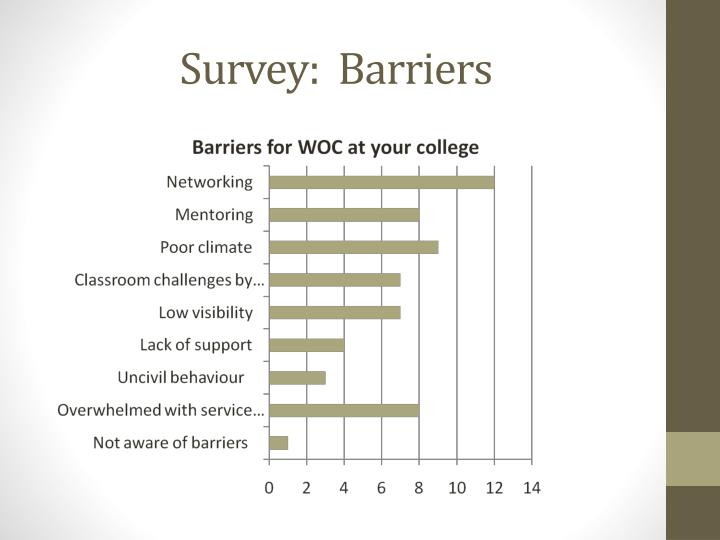 Survey:  Barriers