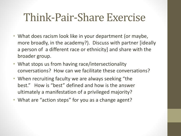 Think-Pair-Share Exercise