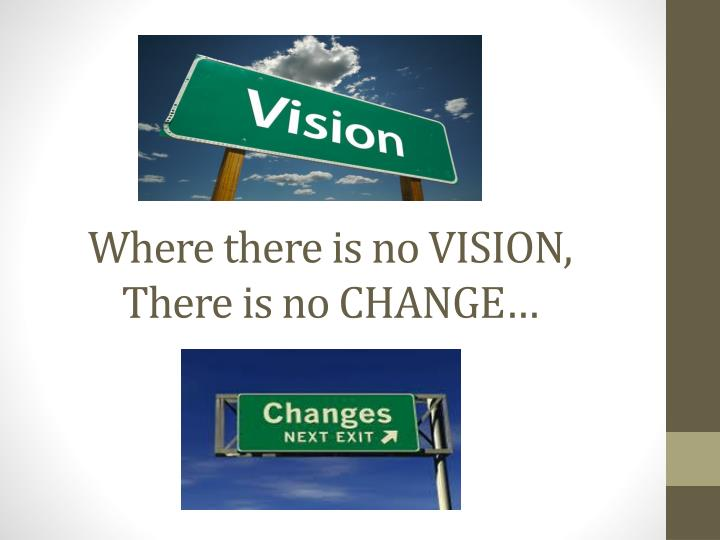 Where there is no VISION,
