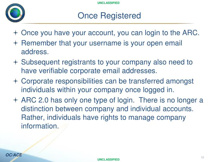 Once Registered