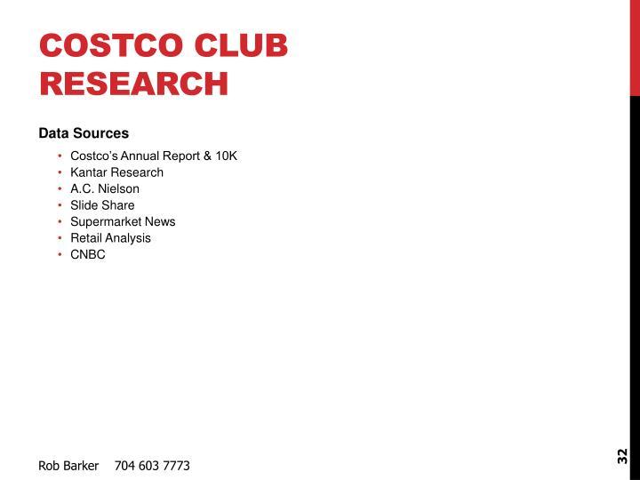 Costco Club Research