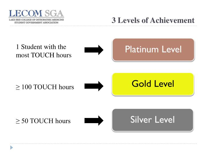 3 Levels of Achievement