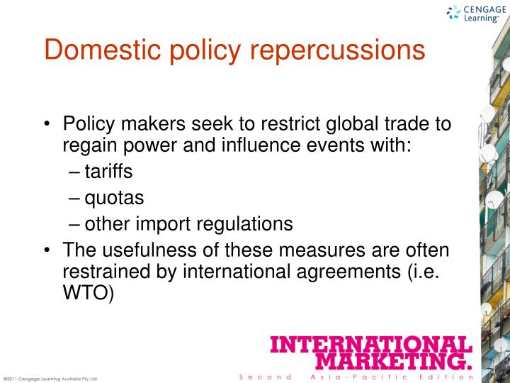 Policy makers seek to restrict global trade to regain power and influence events with: