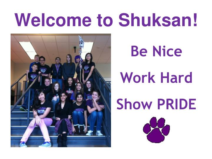 Welcome to Shuksan!