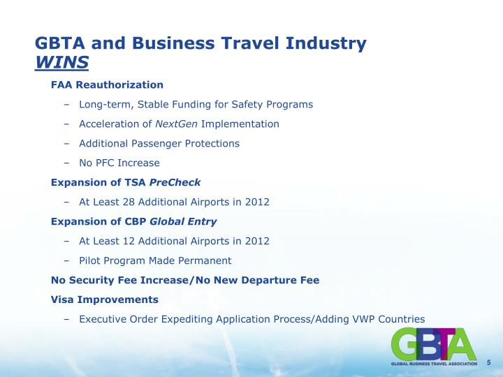 GBTA and Business Travel Industry
