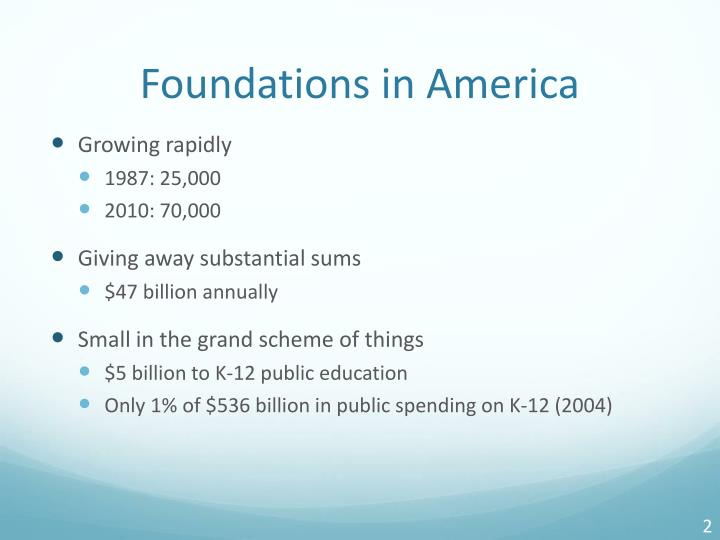 Foundations in america
