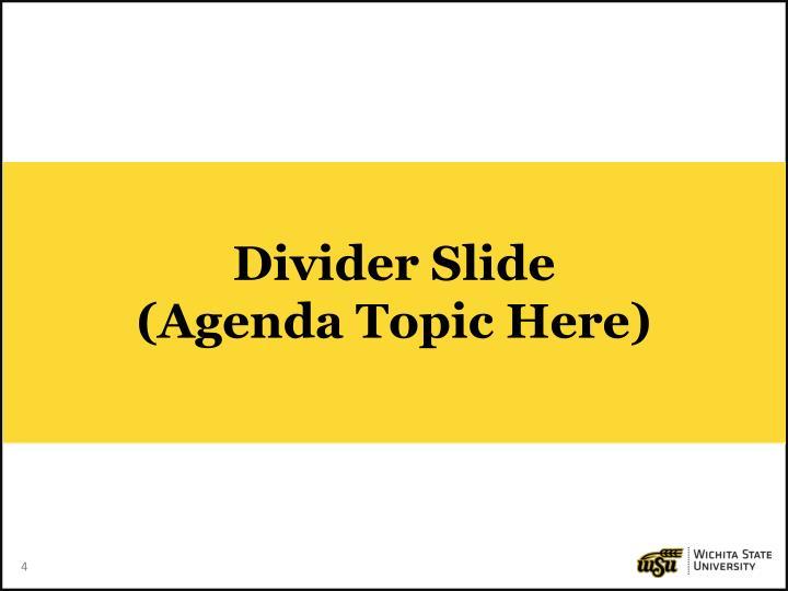 Divider Slide