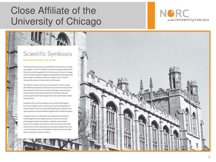 Close affiliate of the university of chicago