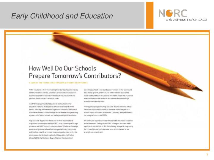 Early Childhood and Education