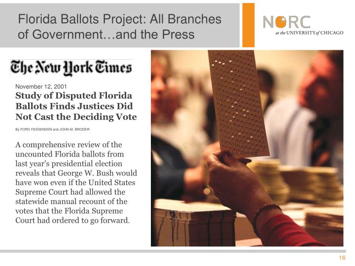 Florida Ballots Project: All Branches