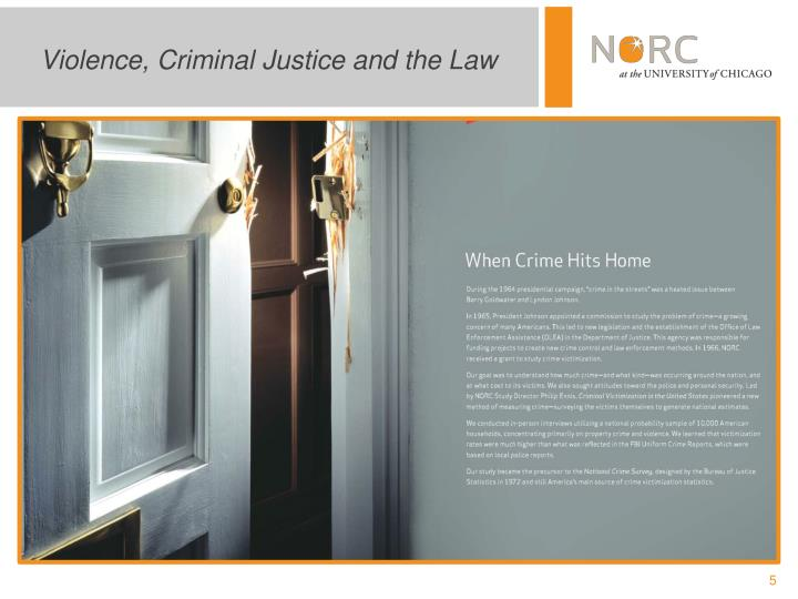 Violence, Criminal Justice and the Law
