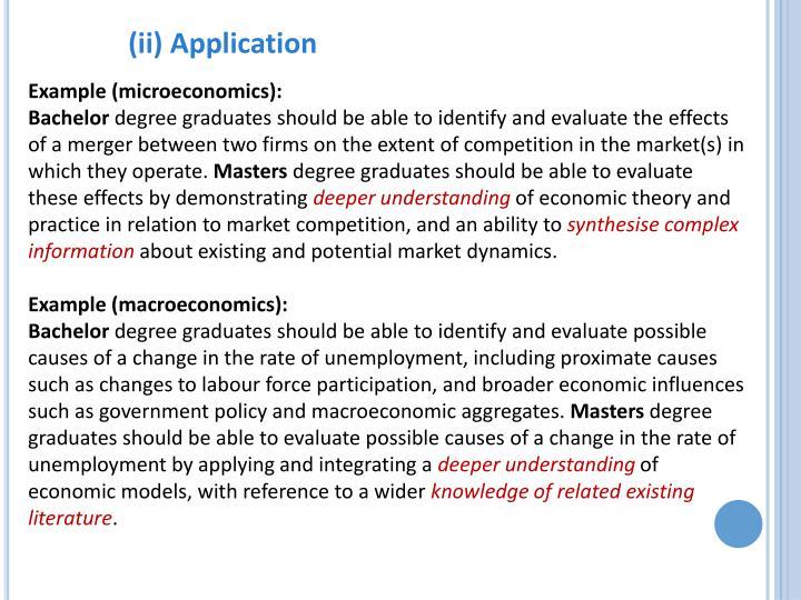 (ii) Application