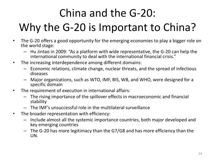 China and the G-20: