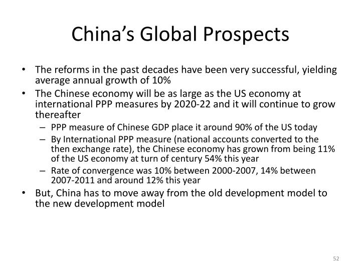 China's Global Prospects