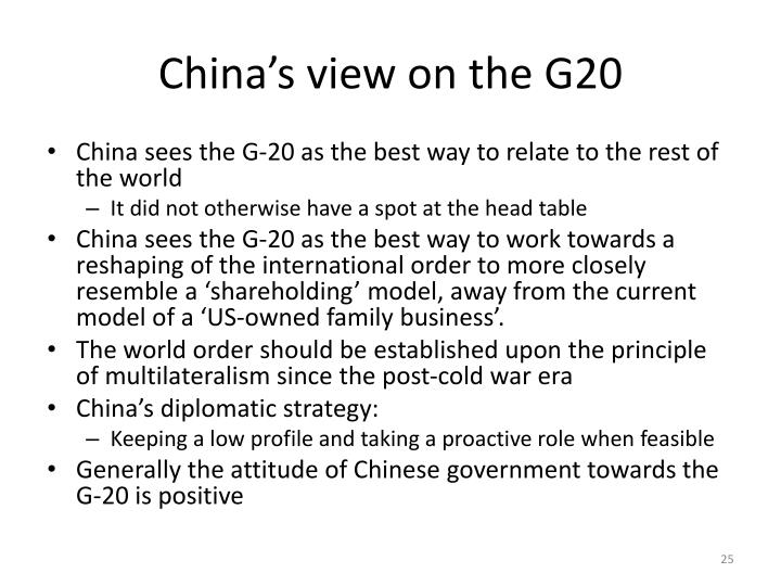China's view on the G20