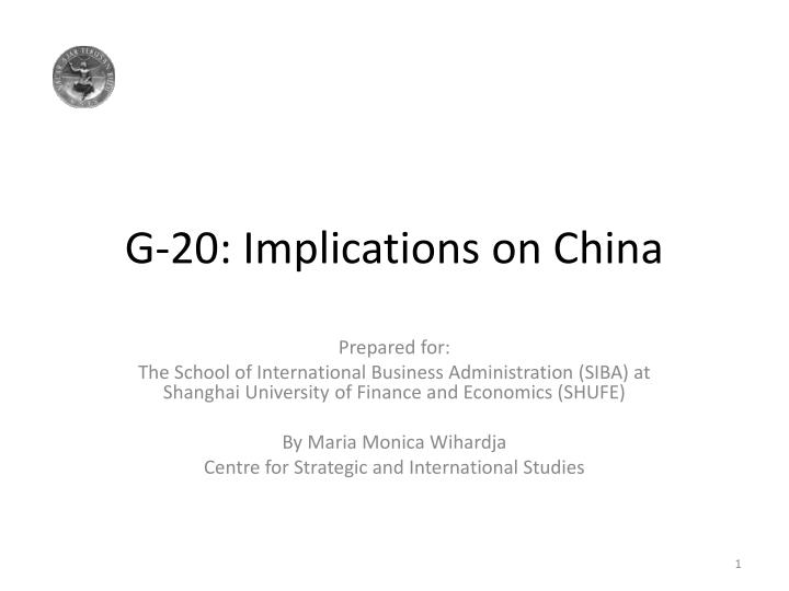 g 20 implications on china