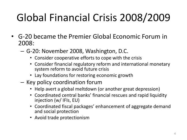 Global Financial Crisis 2008/2009