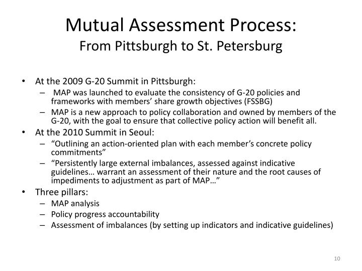 Mutual Assessment Process: