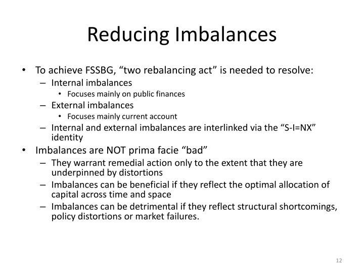 Reducing Imbalances