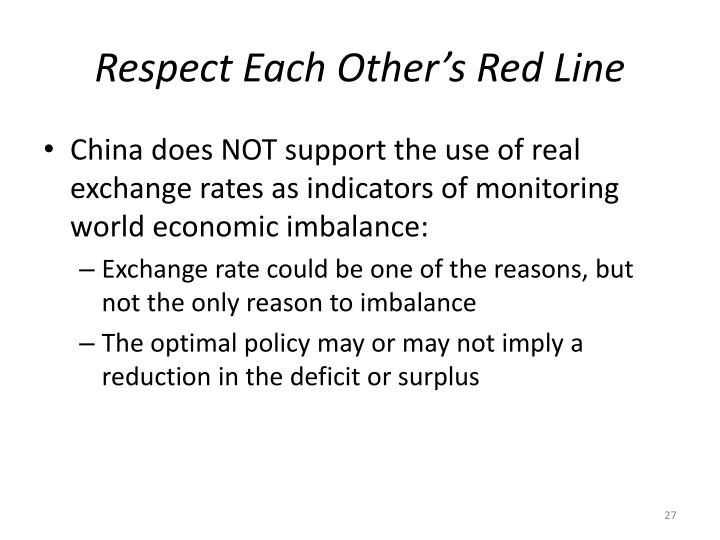 Respect Each Other's Red Line