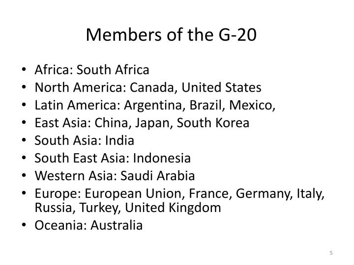 Members of the G-20