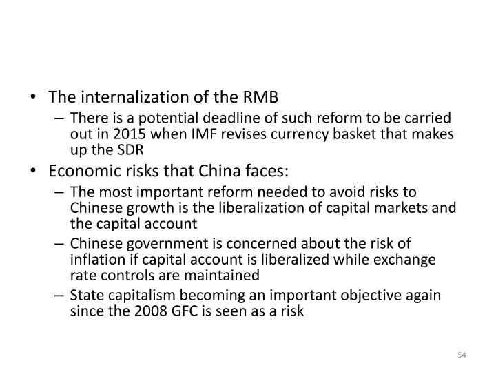 The internalization of the RMB