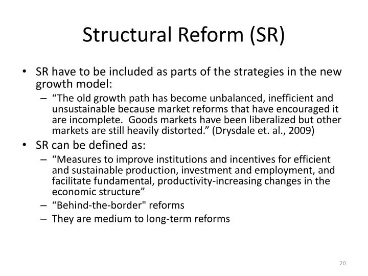 Structural Reform (SR)